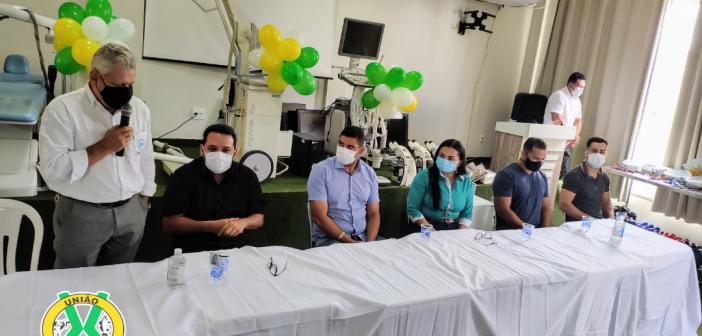 Cerimônia de entrega de equipamentos hospitalares doados pela Norte Energia ao município de vitória do Xingu
